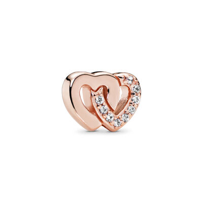 Interlocked Hearts Petite Locket Charm