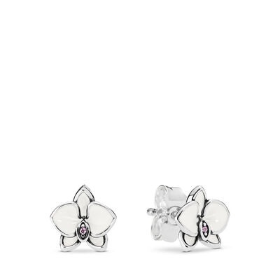 White Orchids Stud Earrings