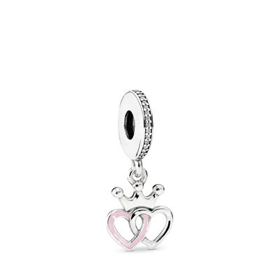 Crowned Hearts Pendant Charm