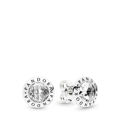 Radiant PANDORA Logo Stud Earrings