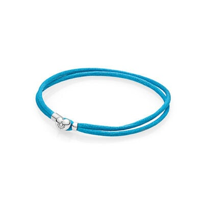 Moments Fabric Cord Bracelet, Turquoise