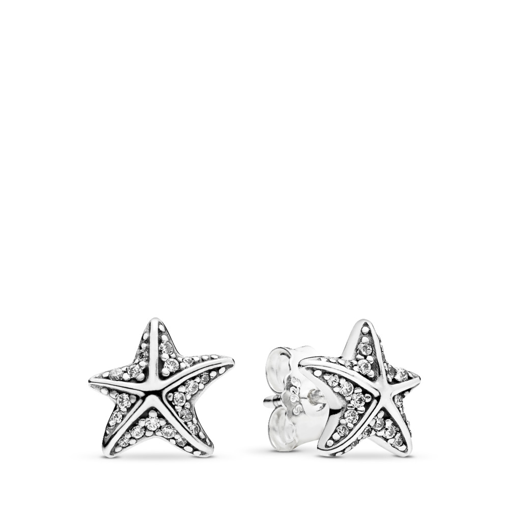 Tropical Starfish Stud Earrings