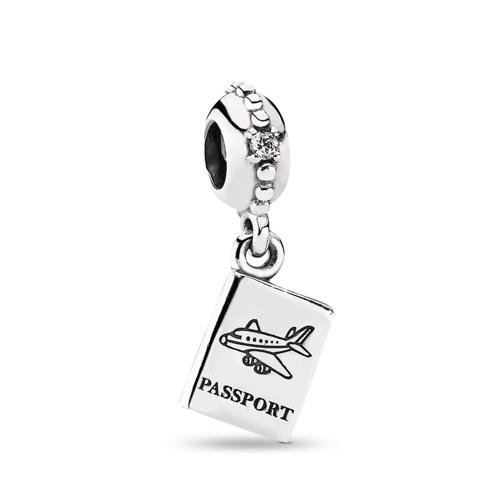 Passport Pendant Charm