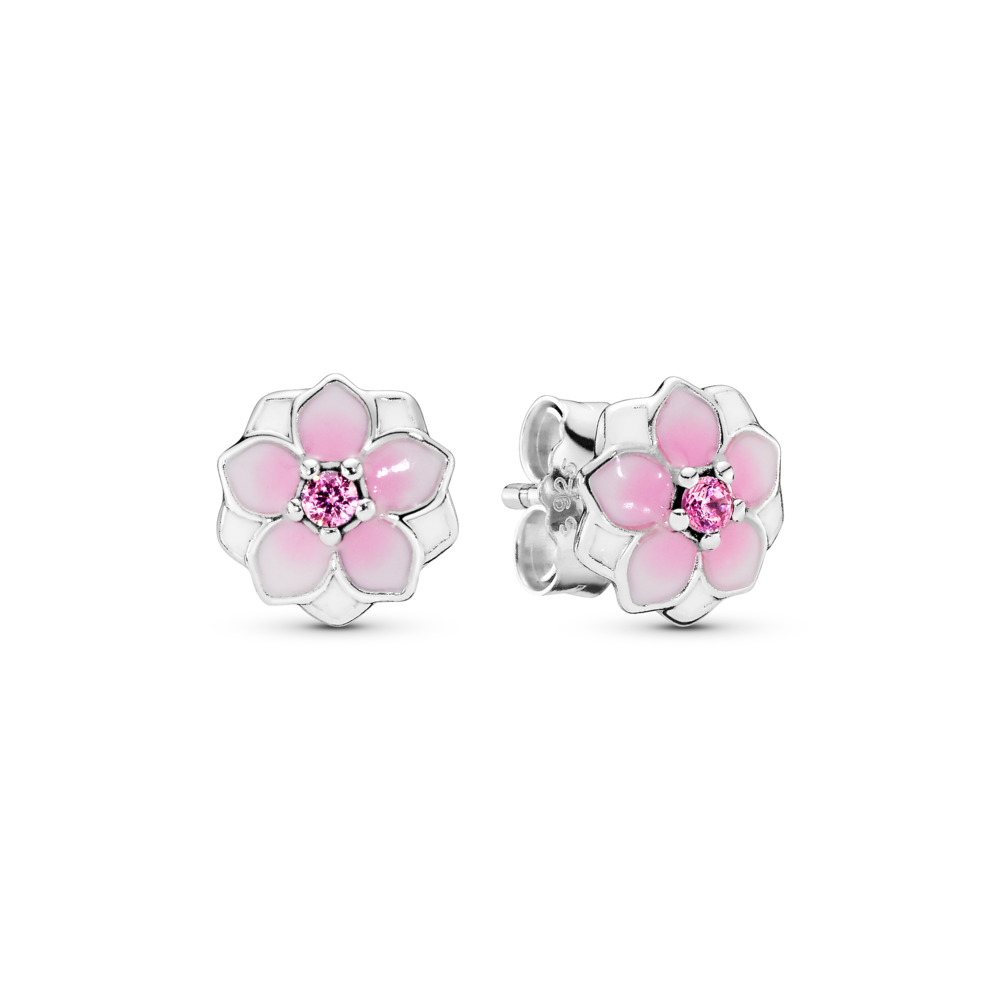 Magnolia Blooms Stud Earrings