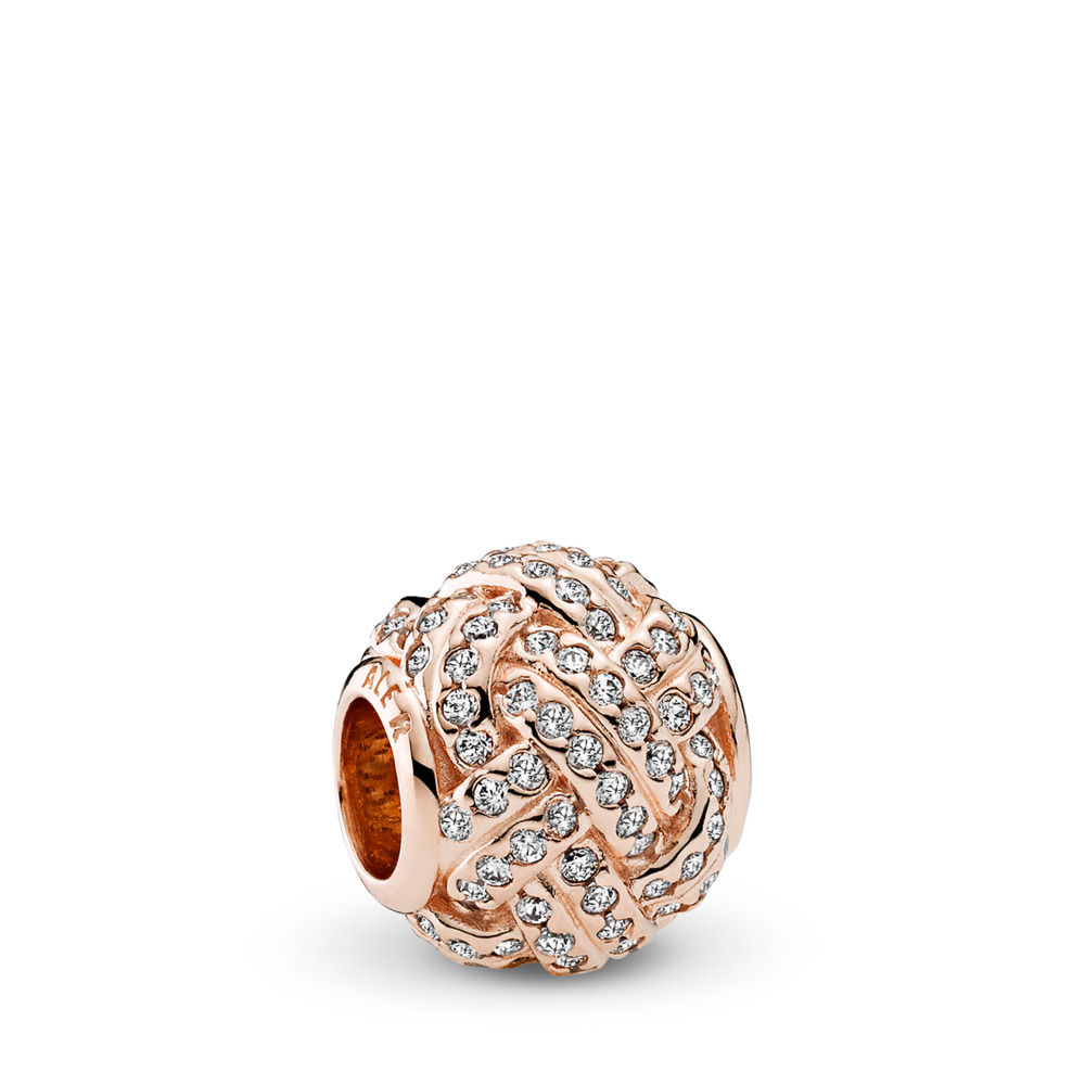 Sparkling Love Knot Charm