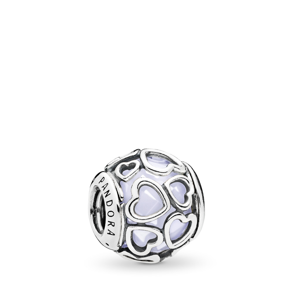 Opalescent Encased in Love Charm