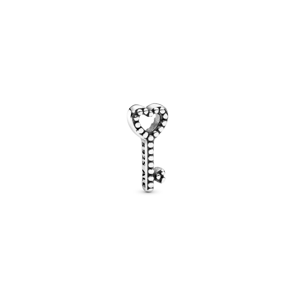 Heart Key Petite Locket Charm