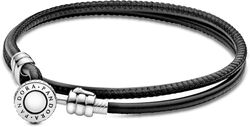 Pandora Moments Double Leather Bracelets
