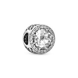 Radiant Hearts Charm, Sterling silver, Cubic Zirconia - PANDORA - #791725CZ