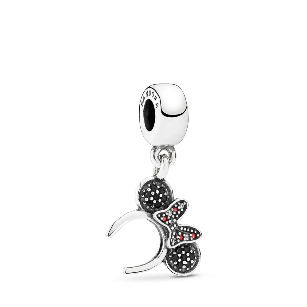 8f7a84212 Disney, Minnie Headband Pendant Charm, Sterling silver, Mixed sto