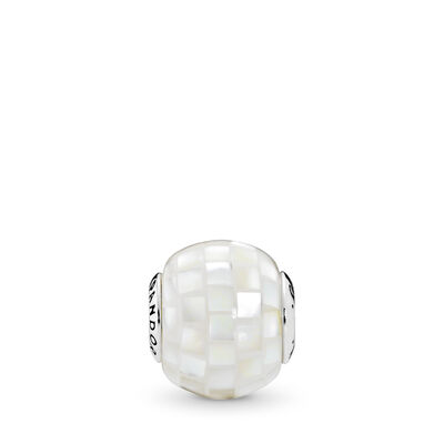 ESSENCE Generosity Charm, Sterling silver, Silicone, White, Mother of pearl - PANDORA - #796079MMW
