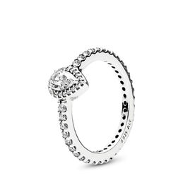 Radiant Teardrop Ring, Sterling silver, Cubic Zirconia - PANDORA - #196254CZ