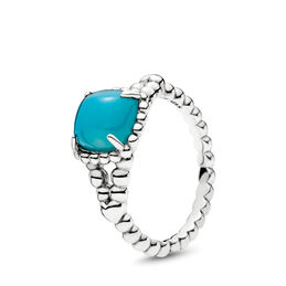 Blue Vibrant Spirit Ring, Sterling silver, Blue, Crystal - PANDORA - #197188NSC
