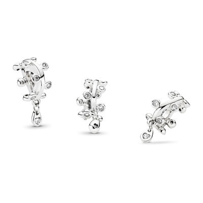Chandelier Droplets Spacer, Sterling silver, Cubic Zirconia - PANDORA - #797106CZ