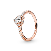 Sparkling Elevated Heart Ring