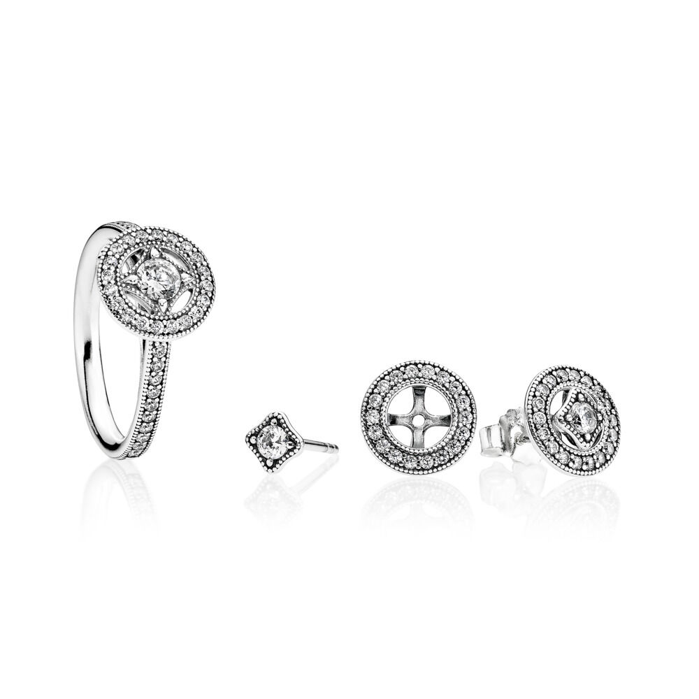 61a343f95 Vintage Allure Stud Earrings, Sterling silver, Cubic Zirconia – S