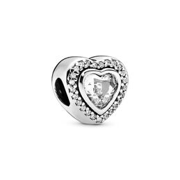 Sparkling Love Charm, Sterling silver, Cubic Zirconia - PANDORA - #797608CZ