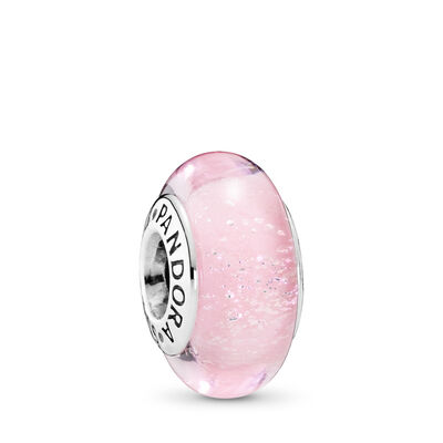 PANDORA Jewelry Disney | Aurora's Signature Color Charm | Murano Glass | Silver