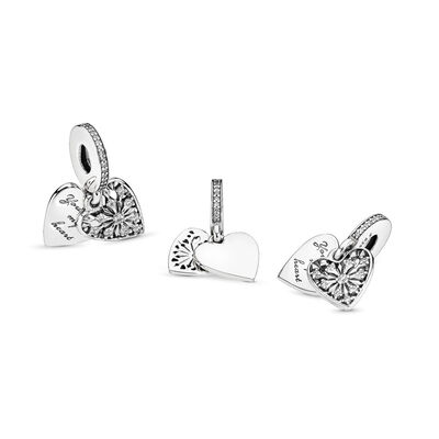 Heart of Winter Pendant Charm, Sterling silver, Cubic Zirconia - PANDORA - #796372CZ