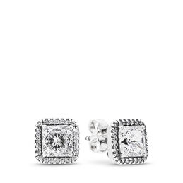 Timeless Elegance Stud Earrings, Sterling silver, Cubic Zirconia - PANDORA - #290591CZ