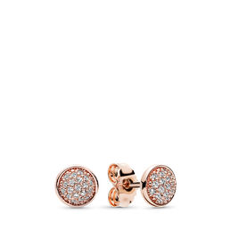 Dazzling Droplets Stud Earrings, PANDORA Rose, Cubic Zirconia - PANDORA - #280726CZ
