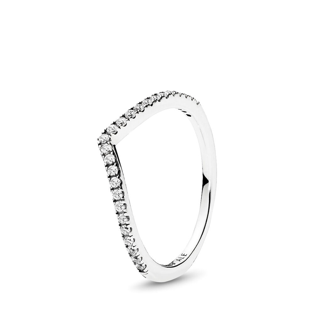 186ade447 Sparkling Wishbone Ring, Sterling silver, Cubic Zirconia – Shop P