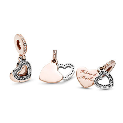 Beloved Mother Pendant Charm, PANDORA Rose with sterling silver, Cubic Zirconia - PANDORA - #781883CZ