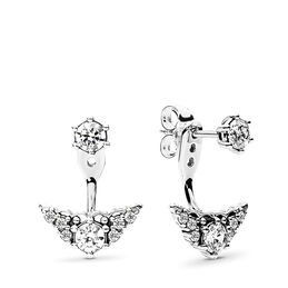 Fairytale Tiara Stud Earrings, Sterling silver, Cubic Zirconia - PANDORA - #296228CZ