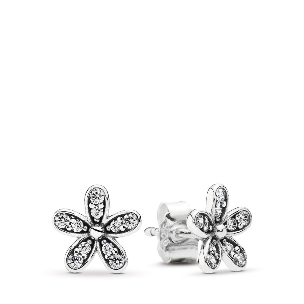 Pandora Dazzling Daisies Stud Earrings with Pandora Gift Box cf7Nrv