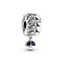 Grains of Energy Charm, Sterling silver, Enamel, Purple, Cubic Zirconia - PANDORA - #797591CZ
