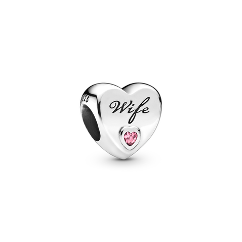 Wife Love Heart Charm
