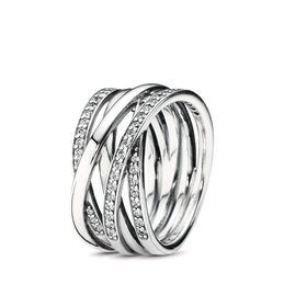 Entwining Silver Rings, Sterling silver, Cubic Zirconia - PANDORA - #190919CZ