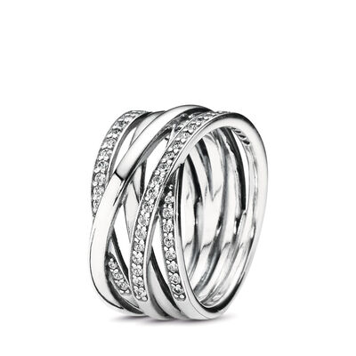 Entwining Silver Rings