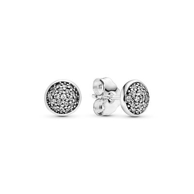 Dazzling Droplets Stud Earrings, Sterling silver, Cubic Zirconia - PANDORA - #290726CZ