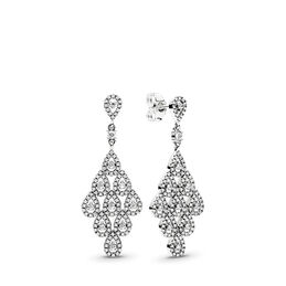 Cascading Glamour Earrings, Sterling silver, Cubic Zirconia - PANDORA - #296201CZ