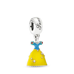 Disney, Snow White's Dress Pendant Charm, Sterling silver, Enamel, Blue - PANDORA - #791579ENMX