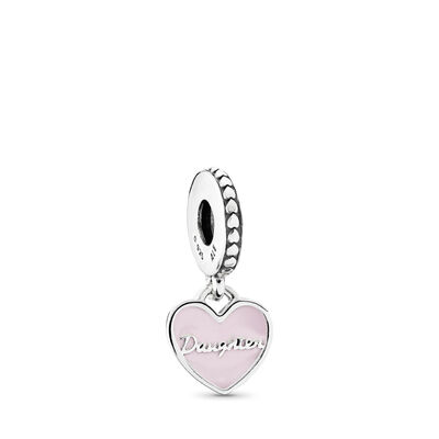 Mother & Daughter Hearts Pendant Charm