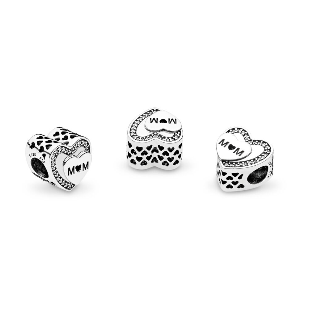 Tribute To Mum Charm Sterling Silver Cubic Zirconia