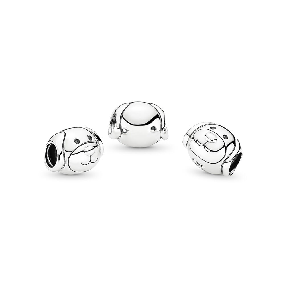 0ba4d7bd8 Friendly Dog Charm, Sterling silver – Shop PANDORA GB