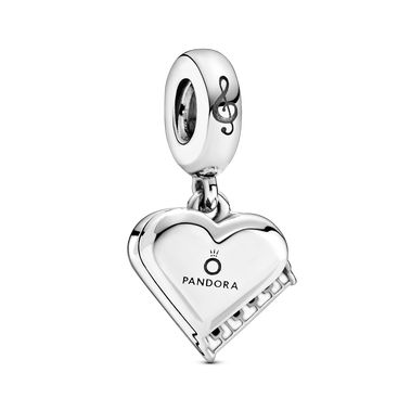 Grand Piano Heart Dangle Charm