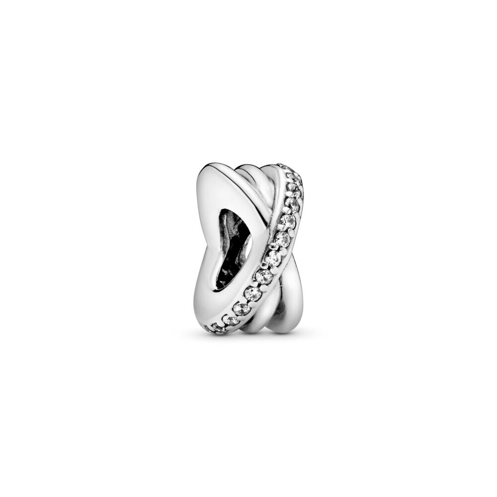 9e9e01ae3 Sparkling & Polished Lines Spacer Charm, Sterling silver, Cubic Z