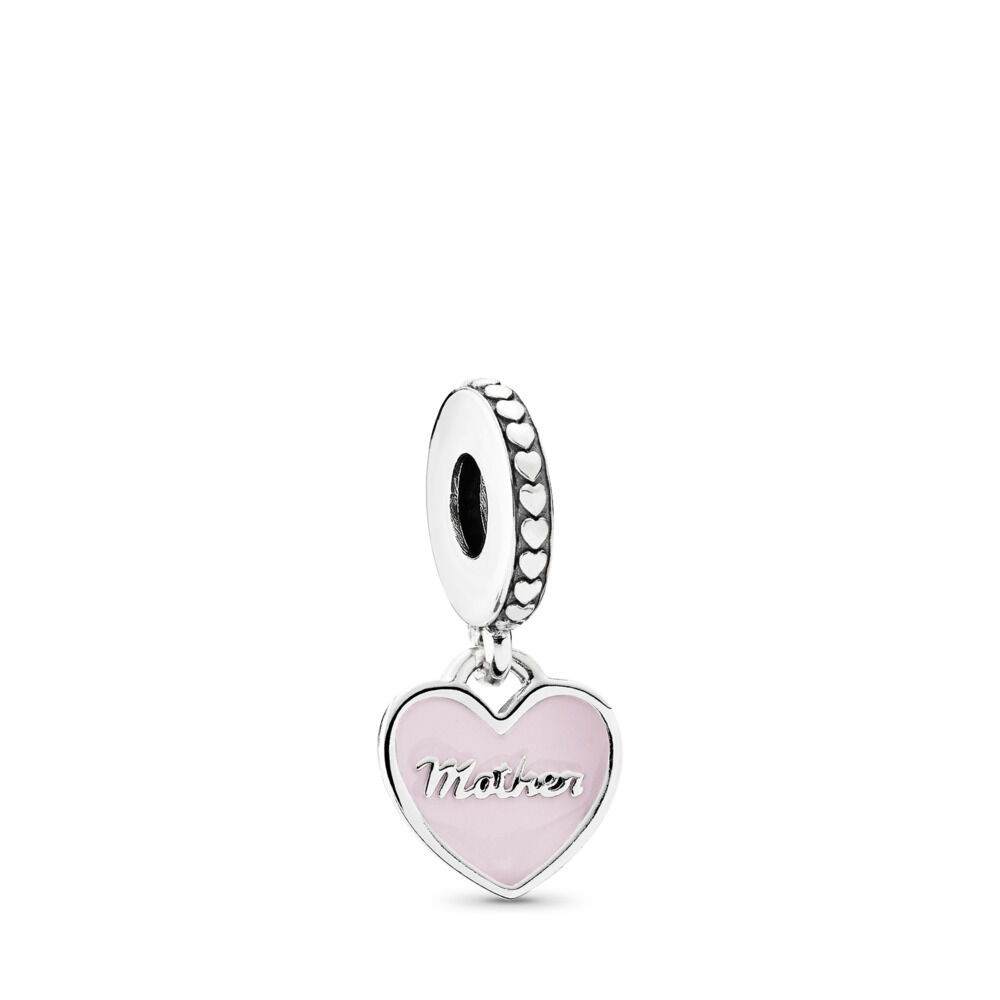 0dc09a76a Mother & Daughter Hearts Dangle Charm, Sterling silver, Enamel, P