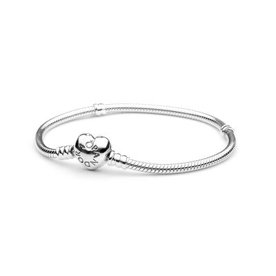 c9b7b2f1e Moments Heart & Snake Chain Bracelet, Sterling silver – Shop PAND