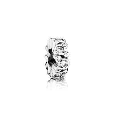 Disney, Mickey All Around Spacer, Sterling silver, Cubic Zirconia - PANDORA - #791456CZ