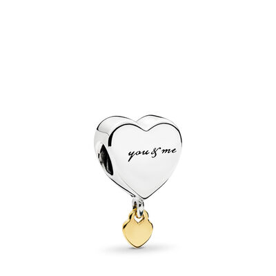 Two Hearts Charm