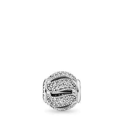 ESSENCE Loyalty Charm, Sterling silver, Silicone, Cubic Zirconia - PANDORA - #796074CZ