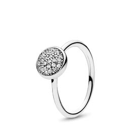 Dazzling Droplet Ring, Sterling silver, Cubic Zirconia - PANDORA - #191009CZ