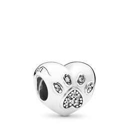 I Love my Pet Charm, Sterling silver, Cubic Zirconia - PANDORA - #791713CZ