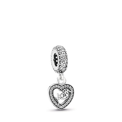 Centre of My Heart Pendant Charm, Sterling silver, Cubic Zirconia - PANDORA - #791521CZ