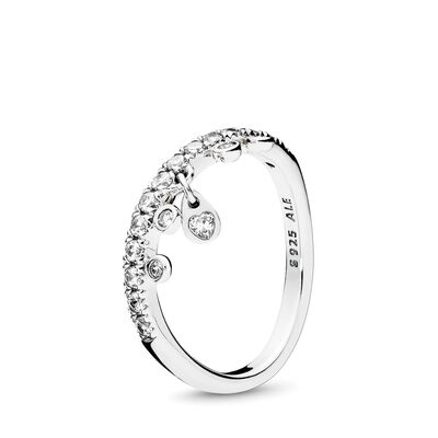 4d36b5865 Chandelier Droplets Ring, Sterling silver, Cubic Zirconia – Shop